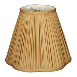 Royal Designs, Inc. - Bottom Scallop Gather Pleat Basic Lampshade - This Bottom Scallop Gather Pleat Basic Lampshade is a part of Royal Designs, Inc. Timeless Basic Shade Collection and is perfect for anyone who is looking for a traditional yet stunning lampshade. Royal Designs has been in the lampshade business since 1993 with their multiple shade lines that exemplify handcrafted quality and value.
