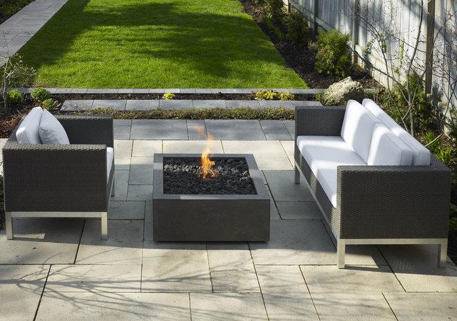 Modern Fire Pits Bento Concrete Firepit by Paloform
