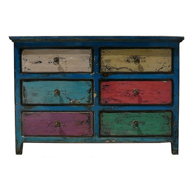 Eclectic Gold Paint Color Dressers, Chests & Bedroom ...