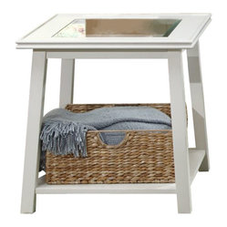Liberty Furniture Summerhill 24 Inch Square End Table in White