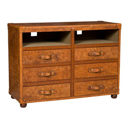 Hooker Furniture - Hooker Furniture Steamer Entertainment Center TR104-085 - Six drawers