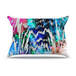 """Kess InHouse - Caleb Troy """"Zebra Wood Galaxy"""" Rainbow Pillow Case, King (36"""" x 20"""") - This pillowcase, is just as bunny soft as the Kess InHouse duvet. It's made of microfiber velvety fleece. This machine washable fleece pillow case is the perfect accent to any duvet. Be your Bed's Curator."""