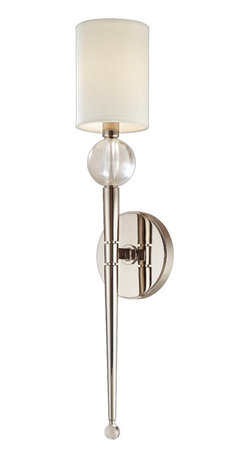 Hudson Valley Lighting - Hudson Valley Lighting 8421-PN Rockland 1 Light Wall Sconces in Polished Nickel - This 1 light Wall Sconce from the Rockland collection by Hudson Valley Lighting will enhance your home with a perfect mix of form and function. The features include a Polished Nickel finish applied by experts. This item qualifies for free shipping!