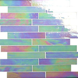 "Glass Tile Oasis - White Gem 1"" x 6"" White Brick Victorian Glossy & Iridescent Glass - Sheet size:  12 1/2"" x  13 7/8""     Tile Size:  1"" x 5 7/8""     Tiles per sheet:  24     Tile thickness:  1/8""      Grout Joints:  1/8""     Sheet Mount:  Mesh Backed     NOTE: Iridescent colors not recommended for water line applications in pools/spas   Sold by the sheet      - Bring bold  dazzling style to any space with Victorian  a collection made from vibrant stained glass. This series stands out for its beautiful patterns and meticulous attention to detail. The mesh-backed tiles come in varying sizes depending on the design  and they are suitable for variety of interior and outdoor spaces."