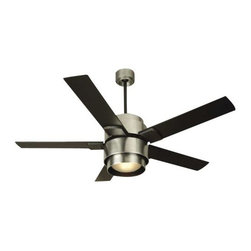 """Craftmade - Silo Ceiling Fan by Craftmade - Exceptional air movement + unique contemporary styling. Designed for the larger indoor great room or master suite, the Craftmade Silo Ceiling Fan features a heavy duty motor and 56"""" and custom Craftmade Silo blades in black. Includes a handheld remote with 3 forward/reverse fan controls and advanced light functions. For more than 25 years, Craftmade has crafted ceiling fans and lighting fixtures that are """"better by design."""" The heavy-duty motors and quiet, balanced operation of Craftmade fans ensure maximum efficiency and long-lasting functionality, while rich detailing adds beauty to every Craftmade design."""