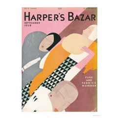 Harper's Bazaar, September 1929 - I love the colors in this reproduction print of a vintage Harper's Bazaar cover. It would make for a pretty palette in a teenage girl's room.