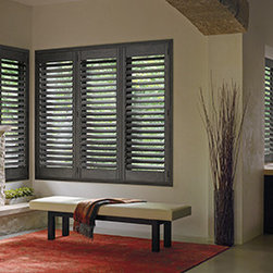 Hunter Douglas SHUTTERS - HUNTER DOUGLAS SHUTTERS - Heritance Hardwood, NewStyle Hybrid, Palm Beach Shutters, Windows Dressed Up is a Hunter Douglas Showcase Dealer located in NW Denver, 38th at Tennyson. We offer the complete line of Hunter Douglas window treatments, including Duette, Luminette, Silhouette, Vignette, Screen Shades, Verticals, Alustra, Skyline Gliding Panels, and Woven Textures. Visit our Virtual Showroom online at www.windowsdressedup.com .  Windows Dressed Up also is your source for Custom Drapes, Custom Curtains, Custom Valances, Custom Roman Shades as well as curtain hardware & drapery hardware. OUT OF STATE?  Please visit our online store for custom drapes, curtains and roman shades. www.ddccustomwindowfashions.com . Hunter Douglas photos.