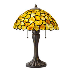CAL Lighting - Cal Lighting BO-2402TB Hand Crafted Natural Cobble Genuine Gem Stone Table Lamp - CAL Lighting BO-2402TB Hand crafted natural cobble genuine gem stone table lamp
