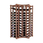 Wine Cellar Innovations - Curved Corner w/Display; Vintner: Allheart Redwood, Light Stain - 4 Ft - This curved wine rack kit makes an excellent solution to attractively store your wine where a 90 degree directional transition is needed, or just to add creativity to the design of the wine room. Purchase two to stack on top of each other to maximize the height of your wine storage. Moldings and platforms sold separately. Assembly required.