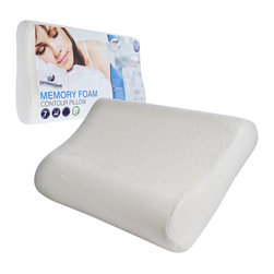 DreamTime - Dreamtime Memory Foam Countour Bed Pillow (Set of 2) - Use this memory foam bed pillow to enhance your sleep quality. It conforms to your body to offer support that a regular pillow cannot. Aches and pains caused by a bad sleeping position can be eliminated with this wonderful memory foam pillow.