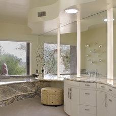 Eclectic Bathroom by Ernesto Garcia Interior Design, LLC