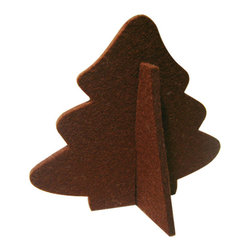 The Felt Store - Decorative Felt Christmas Tree With Stand - Brown - The Felt Store's Decorative Tree is the perfect home decoration item for the holiday season. It is made from our high-quality 0.19 inches(5mm) designer felt and measures 4.5 inches x 4 inches(114.3mm x 101.6mm). The Decorative Tree goes perfectly with our other Home Decor products and will add christmas atmosphere to your home. Several colors are available.