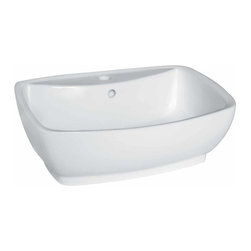 Renovators Supply - Vessel Sinks White Paris Vessel Sink | 15305 - Vessel Sinks Above Counter: Made of Grade A vitreous China these sinks easily endure daily wear and tear. Our protective RENO-GLOSS finish resists common household stains and makes it an EASY CLEAN wipe-off surface. Ergonomic and elegant easy reach design reduces daily strain placed on your body. SPACE-SAVING design maximizes limited bathroom space. Easy, above counter installation let's you select from many countertop designs, sold separately. Measures 21 1/2 inch W x 15 1/2 inch projection