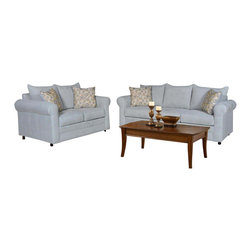 Chelsea Home Furniture - Chelsea Home 2-Piece Living Room Set in Blitz Capri - Nightlife Spring Pillows - Anita 2-Piece living room set in Blitz Capri - Nightlife Spring Pillows belongs to the Chelsea Home Furniture collection