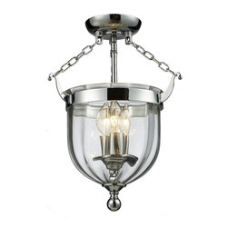 Z-Lite - Z-Lite Warwick Pendant Light X-FS731 - For a traditional yet versatile look, this semi-flush would be perfect for adding elegance to any space. The sculpted circular glass shades are suspended from a circular mount, finished in chrome. Inside the shade are suspended candelabra lights, adding the finishing touch on an elegant fixture.