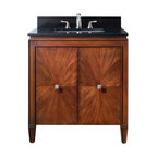 Avanity - Brentwood 31 in. Vanity Combo - This vanity blends the best of both worlds – it's equal parts modern and traditional. The unique starburst pattern on the doors is achieved through a careful matching of wood veneers. It's a great addition to your guest bath or you can place two side by side in your master.