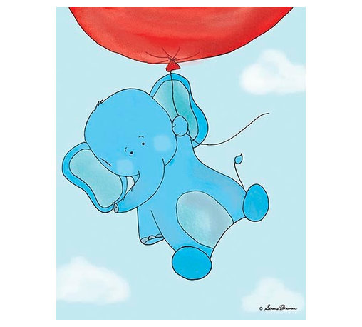 Oh How Cute Kids by Serena Bowman - Up Up and Away - Elephant, Ready To Hang Canvas Kid's Wall Decor, 11 X 14 - Each kid is unique in his/her own way, so why shouldn't their wall decor be as well! With our extensive selection of canvas wall art for kids, from princesses to spaceships, from cowboys to traveling girls, we'll help you find that perfect piece for your special one.  Or you can fill the entire room with our imaginative art; every canvas is part of a coordinated series, an easy way to provide a complete and unified look for any room.
