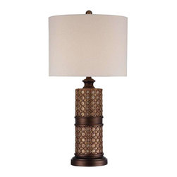 Minka Lavery - Minka Lavery 13043-0 Table Lamp In Antique Silver Leaf W/Rub Through Bronze - Manufacturer: Minka Lavery