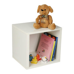 Way Basics - Eco-Friendly Storage Cube in White - Includes one double-sided backer board. Water resistant. Completely recyclable. Super strong 3M heavy duty adhesive bonds the boards together. Formaldehyde free and VOC free so it's safe for family and environment. Warranty: One year. Sustainably made from zBoard - recycled paper. Inside: 11.22 in. W x 11.81 in. D x 11.22 in. H. Overall: 11.2 in. W x 13.4 in. D x 12.8 in. H (4.67 lbs.). Assembly InstructionsStackable Modular Storage Cubes. Simple design solution and eco friendly furniture. An excellent home organizer for modern living. Behold, our most basic creation flexing its muscles. Truly modular in every sense of the word, there are endless configurations and possibilities for the design guru. Each Cube is separate from each other so you can satisfy your design itch when you feel like changing things up a bit. Stack them side to side, on top of each other or get creative and build a pyramid and ladder design. Mix and match colors or just keep it simple with a single shade. To assemble zBoard storage products, simply peel, stick, done! Tool-free and hardware free.