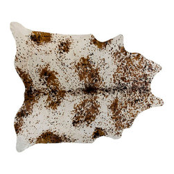 #N/A - Cow Hide Rug in Salt and Pepper Tri Color Special Painted - Cow Hide Rug in Salt and Pepper Tri Color Special Painted. Hair on Hide Rug Painted