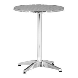 """Zuo - Zuo Christabel Folding Table - Perfect for areas with limited space this stylish Christabel table has a top that folds downward to create a flat standing piece for easy vertical storage when not in use. The top is aluminum wrapped MDF on an aluminum body. This piece is lightweight durable and a beautiful contemporary accent to any space. 31"""" high 23 1/2"""" wide and 23 1/2"""" deep.  Aluminum construction.  Aluminum wrapped MDF top.  Top folds down for convenient storage.  Indoor / Outdoor use.  Some assembly required.  31"""" high.  23 1/2"""" wide.  23 1/2"""" deep."""