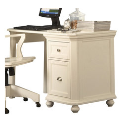 Homelegance - Homelegance Hanna Single Desk in White - Designed with versatility in mind, these Home Office collection s can be configured to accommodate any home office environment. With three base cabinet models and five desktop options, you can create a customized work environment perfectly fit in every corner. Small and large hutch options allow for vertical expansion of the collection . Auxiliary options include a lateral file cabinet and stacking bookshelves provide additional storage.