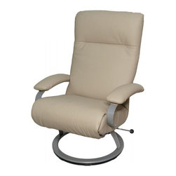Lafer - Lafer Kiri Reclining Chair, Beige - The Kiri Chair has revolutionized the look of modern home and office furnishings. Upholstered in your choice of several top grain leathers, this chair can be placed in just about any setting you desire. The ergonomic design of the chair works to alleviate back pain and can even improve one's posture. Leaving its possessor feeling refreshed and restored, this chair encompasses unique style with infinite position capabilities. The infinite position offers it occupant the ability to raise their feet above the heart, lessening the pressure on the spine and relieving the body of the muscle tension experienced after an eventful day. Within easy reach, the hand lever allows you to comfortably slide into multiple reclining positions.