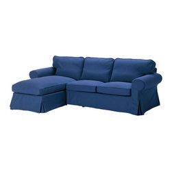 IKEA of Sweden - EKTORP Loveseat and chaise lounge - Loveseat and chaise lounge, Idemo blue