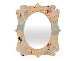 DENY Designs - Iveta Abolina Creme De La Creme Quatrefoil Mirror - Mirror, mirror on the wall. Who's the fairest one of all? We'll that's easy, the quatrefoil mirror collection, of course! With a sleek mix of baltic birch ply trim that's unique to each piece and a glossy aluminum frame, the rectangular mirror makes you feel oh so pretty every time you catch a glimpse. Custom made in the USA for every order.