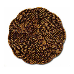 Rattan Wicker Placemats - Start your tablesetting with a rattan charger. The textures look good. I use mine all the time.