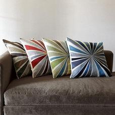 Contemporary Pillows Lourdes Sánchez Bull's Eye Pillow Cover