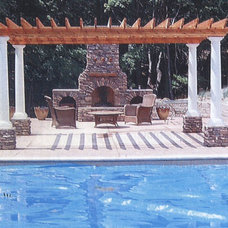 Mediterranean Swimming Pools And Spas by CJ's Home Decor & Fireplaces