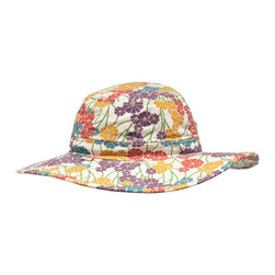 """Morning Glory Brim Hat - From the """"Morning Glory Collection,"""" the Brim Hat provides protection and style to sun lovers inside the garden and beyond. 100% cotton and machine washable. One size fits most."""