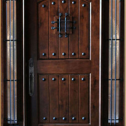 "Global Entry Doors - Maricopa Deluxe Door - This door unit comes in Knotty Alder wood. It is 61 1/2"" wide by 81"" tall and has a 5 1/4"" jamb. The door is pre-finished, pre-hung, comes with interior casing and exterior brick molding. The glass is dual glazed, clear tempered. All you need to buy is Entry Door hardware to complete your installation. The door is available with a right hand or left hand interior swing. Entry hardware not included."