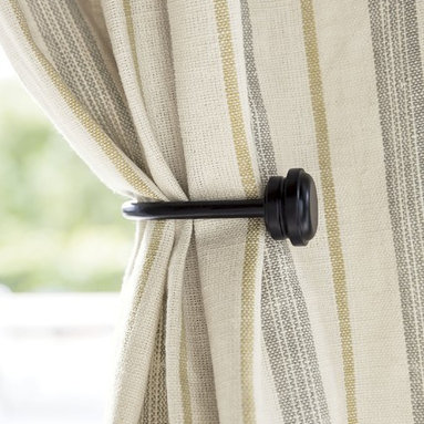 Smith and Noble Hardware - Add elegance and style to drapes with a range of tiebacks. They bring gentle curves to windows and allow for more light in the room.