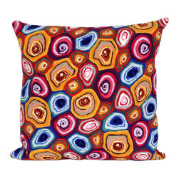 "Trans-Ocean - Murano Swirl Red Pillow - 20"" SQ - The highly detailed painterly effect is achieved by Liora Mannes patented Lamontage process which combines hand crafted art with cutting edge technology.These pillows are made with 100% polyester microfiber for an extra soft hand, and a 100% Polyester Insert.Liora Manne's pillows are suitable for Indoors or Outdoors, are antimicrobial, have a removable cover with a zipper closure for easy-care, and are handwashable."