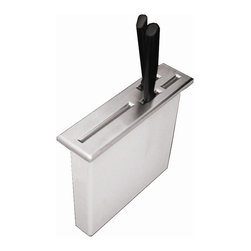 Whitehaus - Drop-In Knife Holder - For domestic and commercial purposes. Drop-in installation. Top of the knife holder is stainless steel. 8.5 in. L x 2.25 in. W x 7.5 in. H (3 lbs.). Warranty. Care Instructions