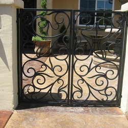 Courtyard gate - Hand Forged Courtyard gate