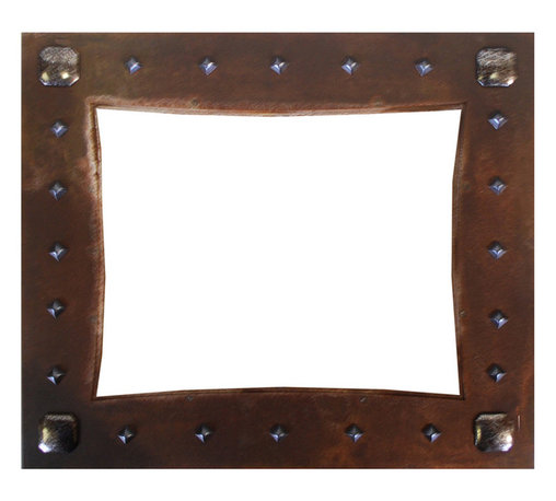 Ironwood - Rustic Picture Frames Nail Head Embellished Iron Picture Frame, 5x7 - Our  iron  metal  frame  with  5x7  opening  in  made  in  oxidized  metal  and  embellished  with  nail  head  tacks.  Perfect  for  favorite  photos,  this  frame  is  a  beautiful  piece  of  art  work.  Display  photos  of  special  memories  and  special  people  in  a  rustic  metal,  frame.   Made  in  the  USA,  this  Rustic  metal  Picture  Frame  includes  glass,  backing  and  hanging  hardware.