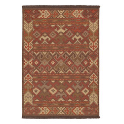 Jewel Tone II JTII-2026 Red Rug - 2'x3' - Jewel Tone II JTII-2026 Red: Traditional rugs inspired by Persian rugs, Antique Oriental rugs or other traditional area rugs are available now. ModernRugs. om is now also featuring traditional rug designs. Traditional Persian and Oriental rugs from ModernRugs. om are now available in a variety of colors and styles, and complement any space. Our traditional Persian rugs provide an elegant look. These Traditional antique Oriental rugs are timeless and add a touch of class to your home. This Southwestern area rug is Hand Woven in India with 100% Hard Twist Wool. The specific colors of this rug include Red, Beige, Brown, Cocoa, Chocolate, Burgundy. he primary color of this rug is red.