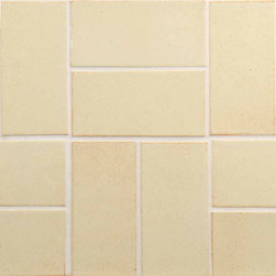 "Glass Tile Oasis - Sand 3"" x 6"" Cream/Beige Tapestry Handmade Tile Glossy Ceramic - Shade and size variations are inherent characteristics in all handcrafted ceramic tile. Orders ship within 2-3 weeks."