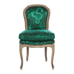 Tony Duquette Belvedere 'Malachite' Chair - This is the most glamorous side chair; it would make any jaw drop.