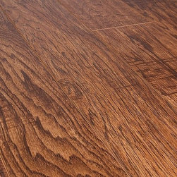 Toklo - Toklo Laminate - 8mm Collection - [21.0 sq ft/box] - Appalachian Hickory -      The Toklo 8mm Collection is a first-quality, high-end, AC3 Rated, CARB-ATCM - Phase 1 compliant, HDF core flooring.The drop lock locking system allows for ease of installation without using glue and can be installed above or below ground. This laminate flooring is suitable for residential and light commercial applications and comes with a 25 year residential warranty (5 year commercial warranty).