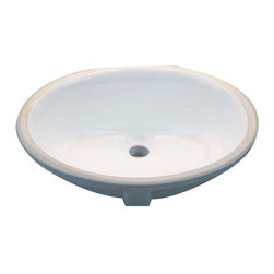 HIGHPOINT COLLECTION - Oval White 17x14-inch Undermount Vanity Sink - Add a sleek and sophisticated look to your bathroom with this stylish undermount vanity sink. It has a white finish combined with an oval shape that works well in any setting. The ceramic construction gives it added durability for long lasting function.