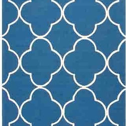 Jaipur - Barcelona BA64 Blue Rectangular: 2 Ft. x 3 Ft. Rug - - Inspired by the rich history and range of design movements that have defined the architecture of Spain's cultural center the Barcelona Collection brings a transitional flair to any indoor or outdoor space. Whether the style leans towards fun boldly-scaled flourishes or understated simplicity this broad range offers something for every taste. Artfully developed in hand-hooked polypropylene Barcelona pairs the durability necessary to withstand the elements with the colorful spirit of the Catalonian countryside       - Construction: Hand-Hooked     - Indoor/Outdoor  - Pile Height: 0.25-Inch    - Care Instructions: Polyester is dirt and stain resistant and will look great for a long time just by vacuuming regularly Dries fast so deep steam/rug cleaning works great to release dirt from fiber If spills occur blot immediately Use rug/carpet cleaners that are safe on synthetic fibers Use professional cleaning agents only and to vacuum use an attachment arm or suction only to remove dirt particles. Jaipur - RUG117492