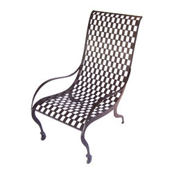 Caporali - Maglie Relax Chair by Caporali - Tuscany, Italy - Hand forged in the Caporali workshop (Santa Mama, Tuscany, Italy), this incredibly well designed chair is made by hand in Italy by skilled artisans. Since 1885, the Caporali family has been forging iron in Tuscany using the same methods passed down through four generations. Each piece is a work of art yet perfectly functional.