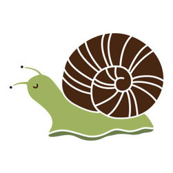 My Wonderful Walls - Snail Stencil 1 for Painting - 2piece smiling snail wall stencil