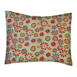 SheetWorld - SheetWorld Twin Pillow Case - Percale Pillow Case - Floral Sage - Made in USA - Twin pillow case. Made of an all cotton woven fabric. Side Opening. Features a beautiful floral print on a sage background.