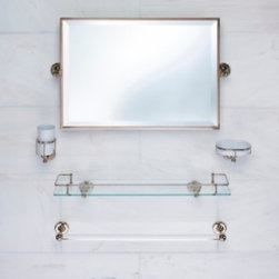 Samuel Heath Unlacquered Brass Bathroom Accessories -