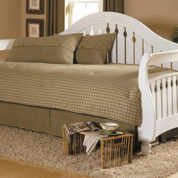 Leggett/Platt Fashion Bed - Kensington 4 Pc Daybed Ensemble - Includes comforter, bed skirt with split corners and two king shams. Bed tray not included. Deep quilted comforter with 16 ozs. hand-packed bonded fiberfill. Shams with envelope style closure. Plaids with sage green and khaki. 15 in. drop bed skirt. Made from 100% cotton. Made in USA. Comforter: 55 in. L x 97 in. W